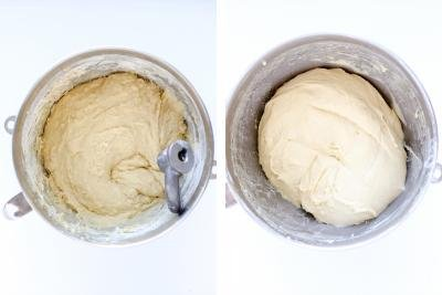 Brioche Bread dough in a bowl