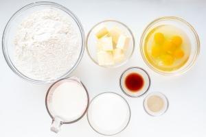 Ingredients for brioche