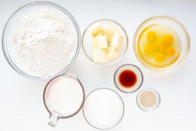 Ingredients for brioche