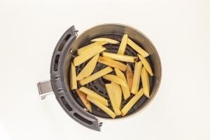 Potatoes in a air fryer