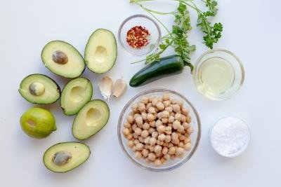 Ingredients for Avocado hummus