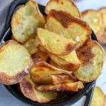Air Fryer Potato chips in basket