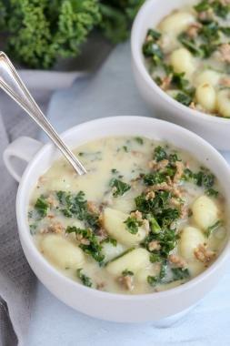 Gnocchi Zuppa Toscana in a bowl