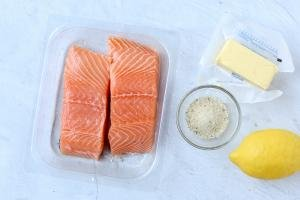 Ingredients for air fryer salmon