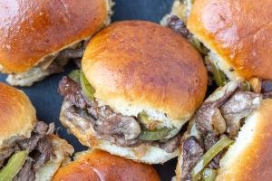 Sliders packed with beef