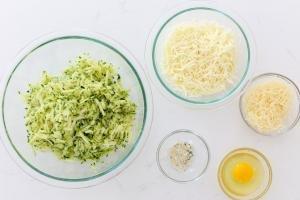 Ingredients for cheesy zucchini bread