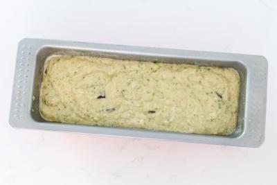 Banana Zucchini bread in a bakingpan