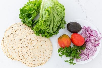 Vegetables and wraps