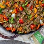 stir fry and vegetables dish