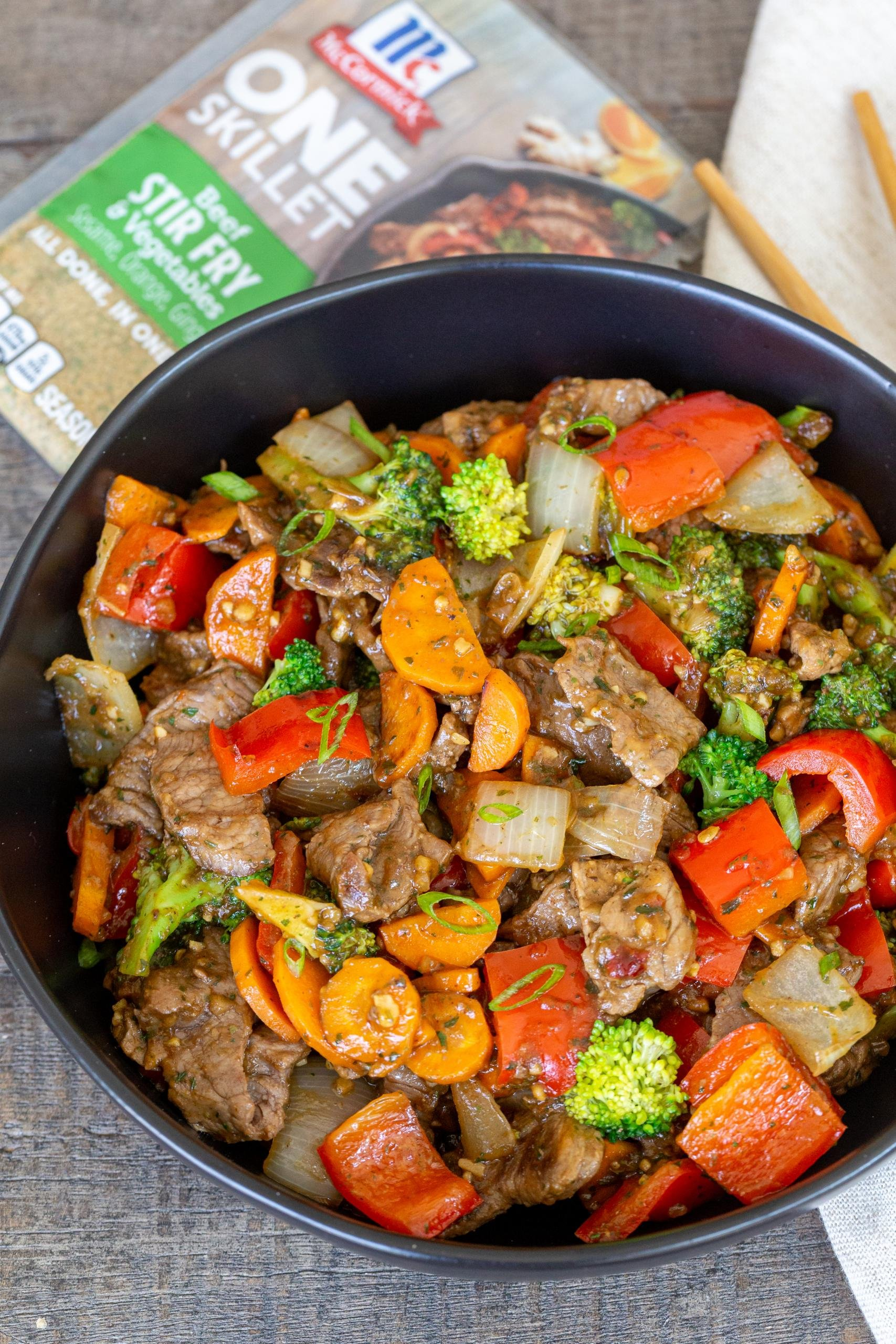 Beef Stir Fry in a bowl