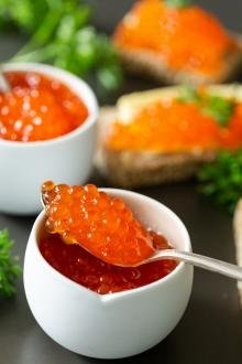 Caviar in in a bowl