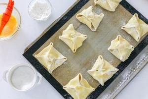Quick Apple Turnovers on a baking sheet