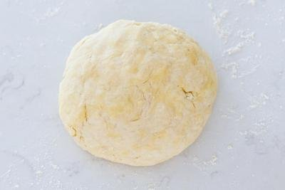 Dough on the counter