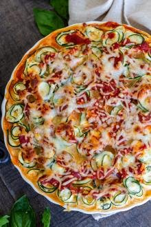 Zucchini Lasagna Roll-Ups in a plate