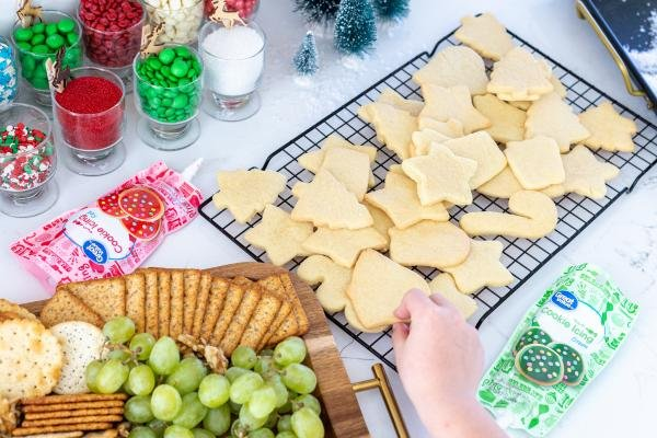 Sugar cookies and snack tray