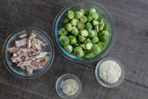 Ingredients for Brussel Sprouts salad