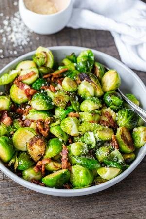 Brussel Sprouts on a plate