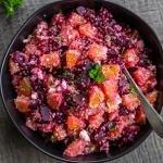 Beet Quinoa Salad in a bowl