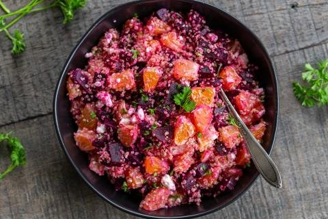 Beet Quinoa Salad in a bowl