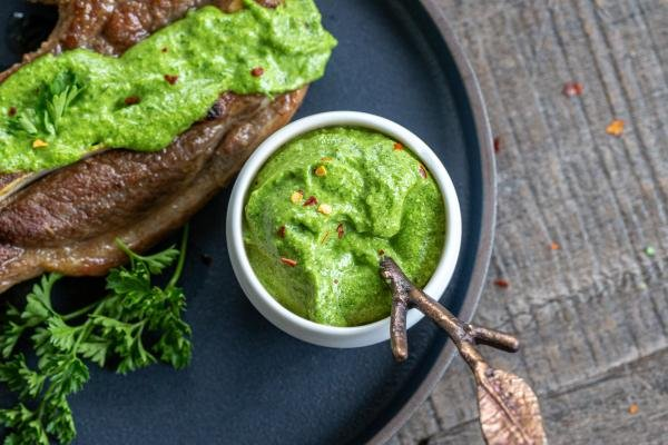 Chimichurri Sauce in a serving dish