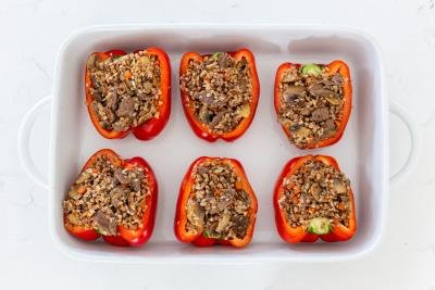 Stuffed peppers with buckwheat filling