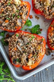 Stuffed Peppers with buckwheat