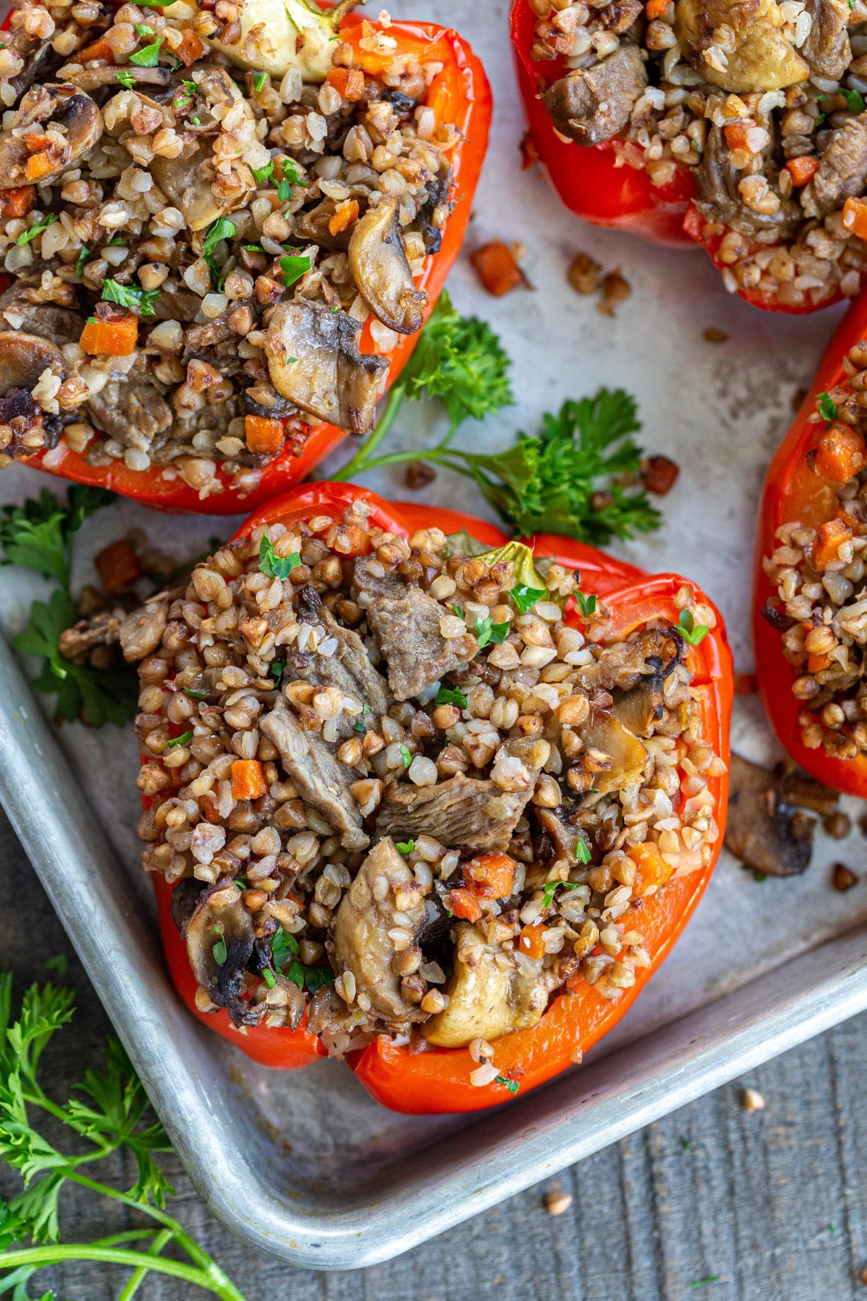 Stuffed Peppers with buckwheat