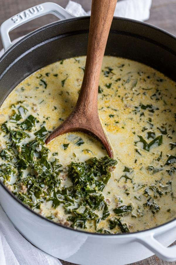 Zuppa Toscana Soup in a pot