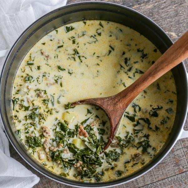 Zuppa Toscana Soup in a pot