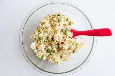 bowl with a crab stuffing