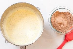 mixing bowl with cake batter