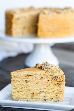 Slice of Meringue Napoleon Cake