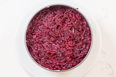 Beets in a salad mold