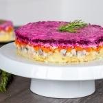 Shuba Salad on a tray
