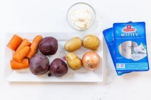 Ingredients for the shuba salad