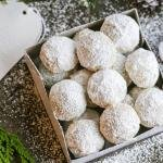 Snowball Cookies in the box