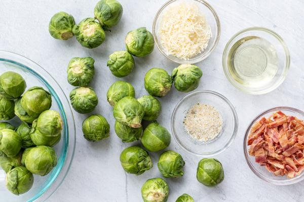 Ingredients for the Brussels Sprouts