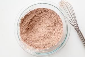 flour and cacao powder