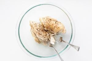 Chicken breast in a bowl