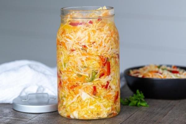 Jar with Sauerkraut
