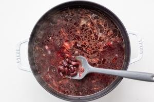 Beans getting added to Classic Borscht