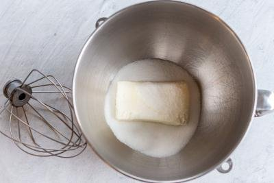cream cheese with sugar