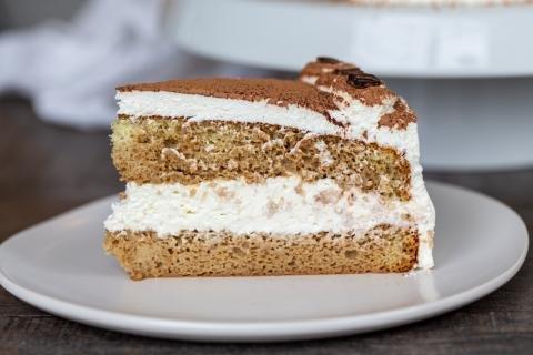 A slice of Tiramisu cake