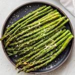 air fried asparagus on a plate