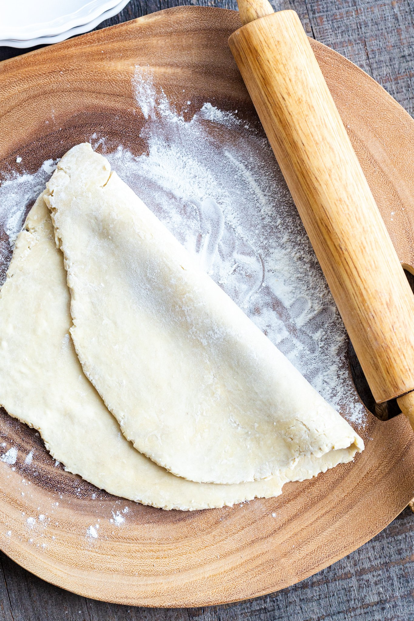 Pie Crust dough rolled out
