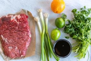 Ingredients for carne asada