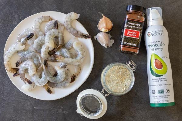 ingredients for the air fryer shrimp