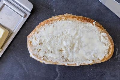 bread with butter applied