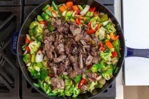 veggies and beef