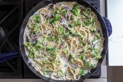 pasta with a creamy Alfredo sauce